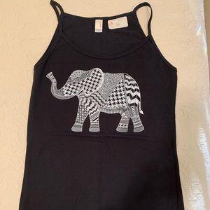 NWT Skinny Tank, Elephant Print, size XS